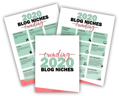 trending 2020 blog niches